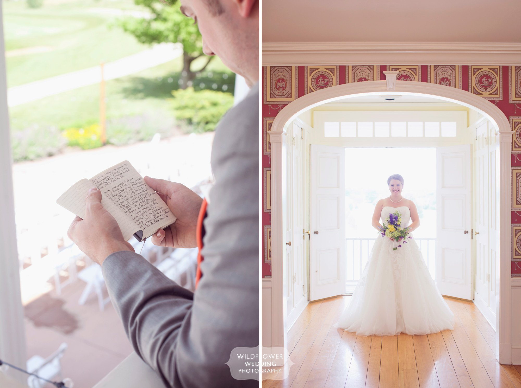 Gorgeous portrait of the bride at the Hawthorne Country Club in Columbia, MO.