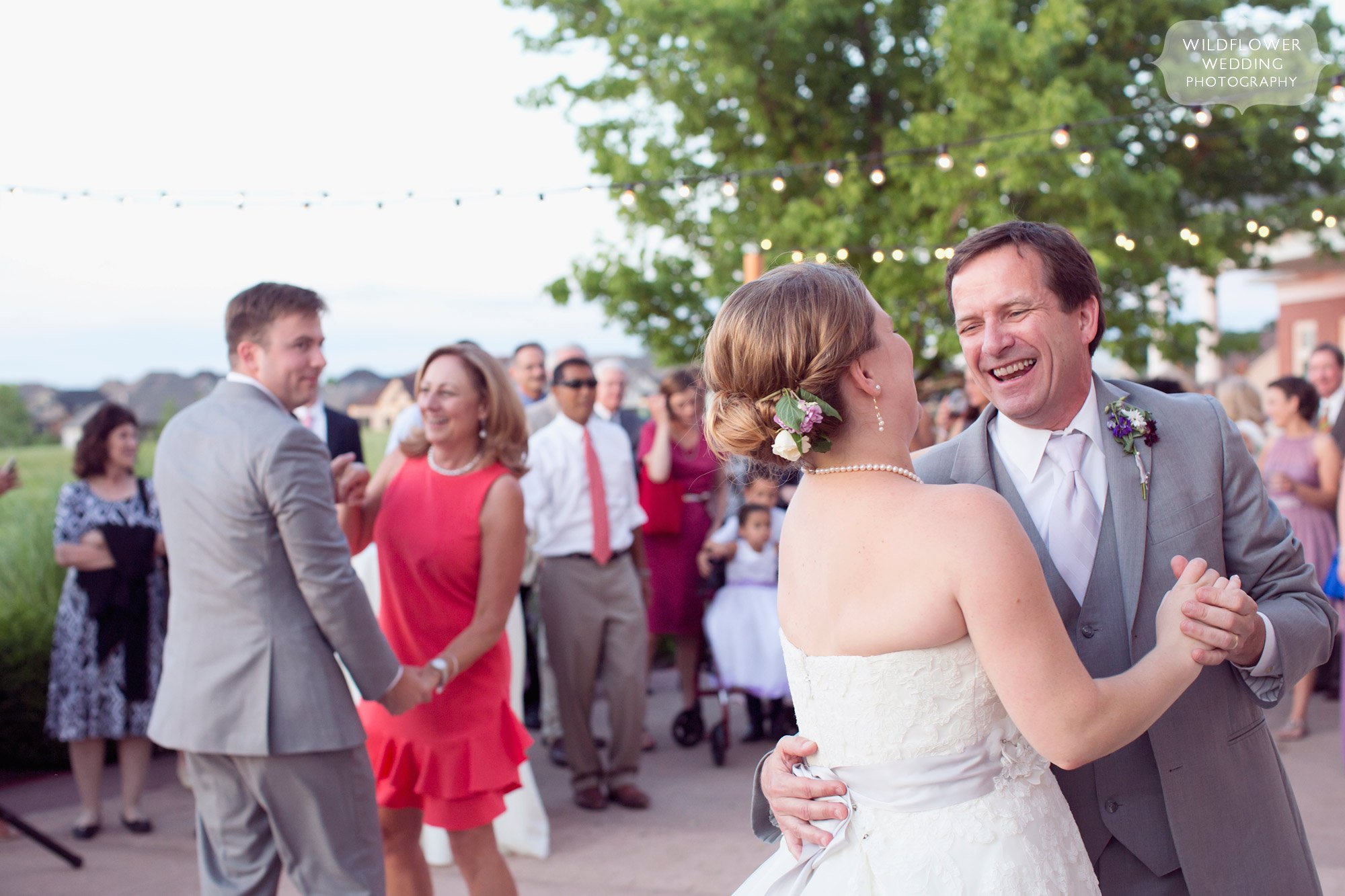 Father and daughter wedding dance at the Hawthorne Country Club in Columbia, MO.