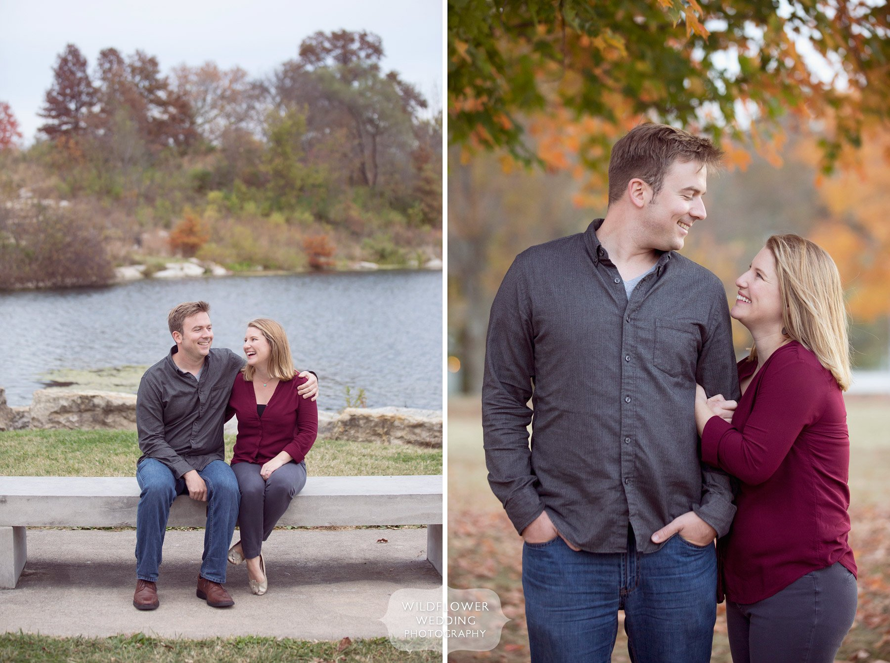 Here is a great example of a journalistic engagement photography session in Columbia, MO at Stephen's Lake Park.
