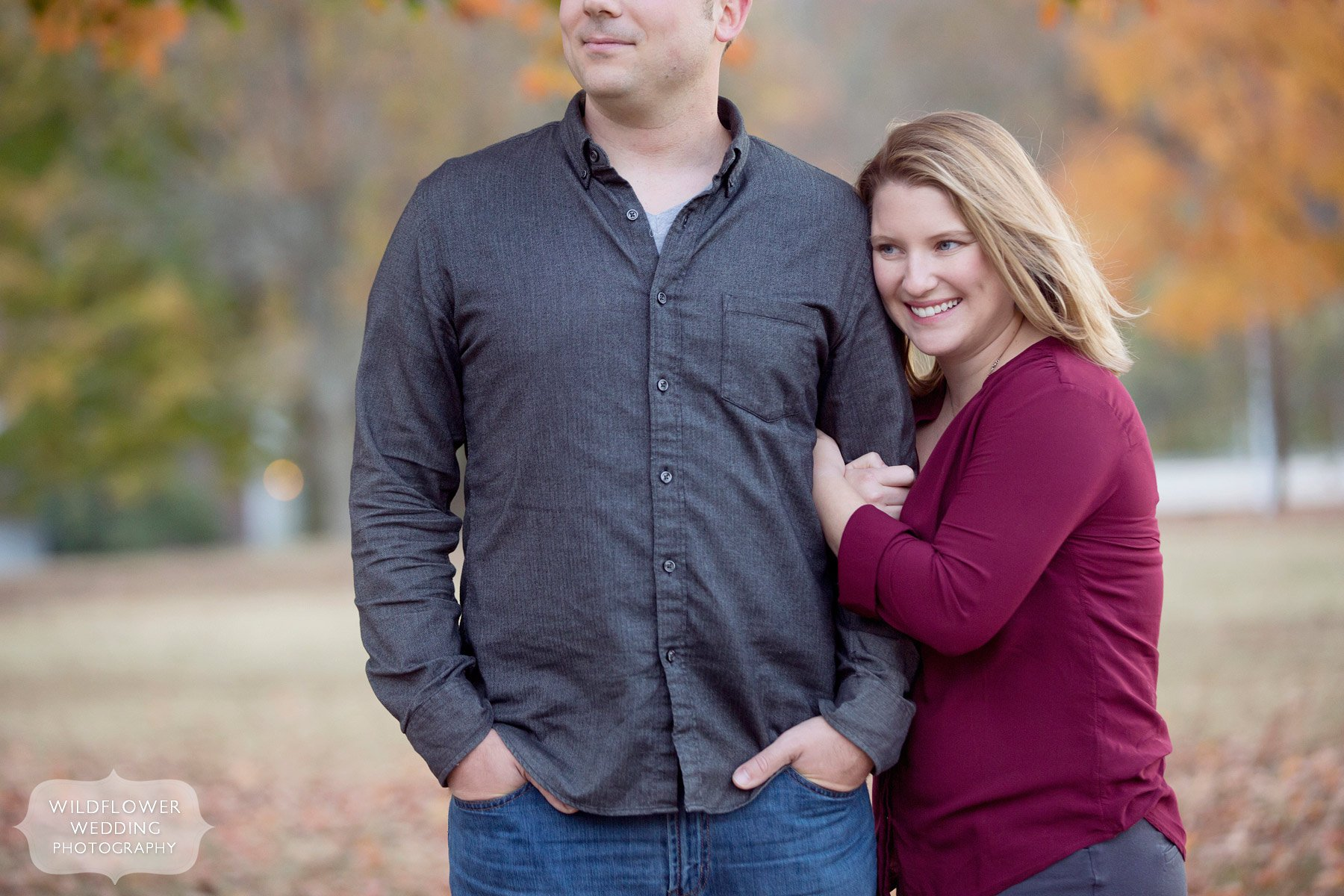 Journalistic engagement photography in Columbia, MO at Stephen's Lake. This was from an outdoor session in October.