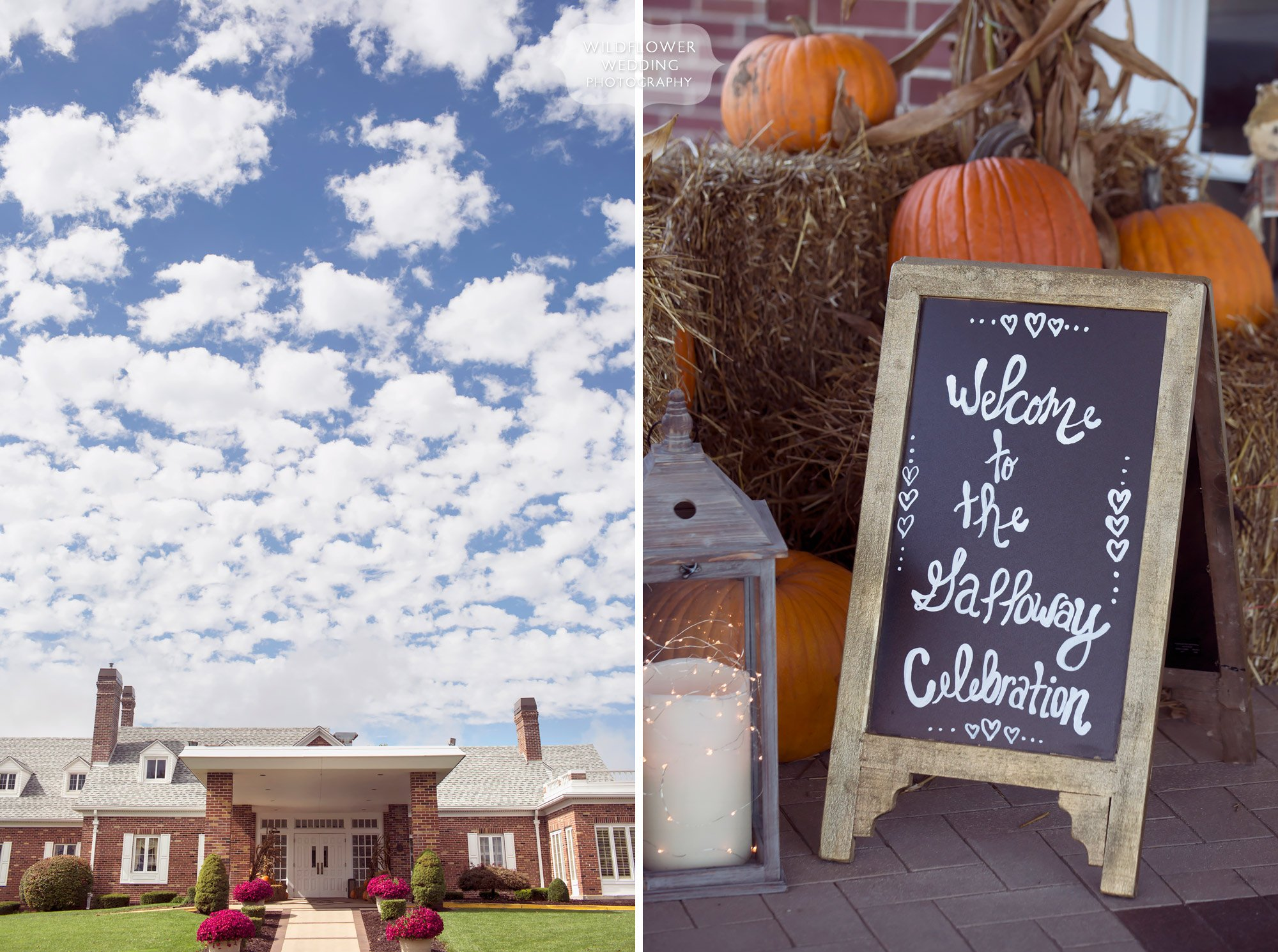 Jefferson City Country Club wedding in October with fall details.