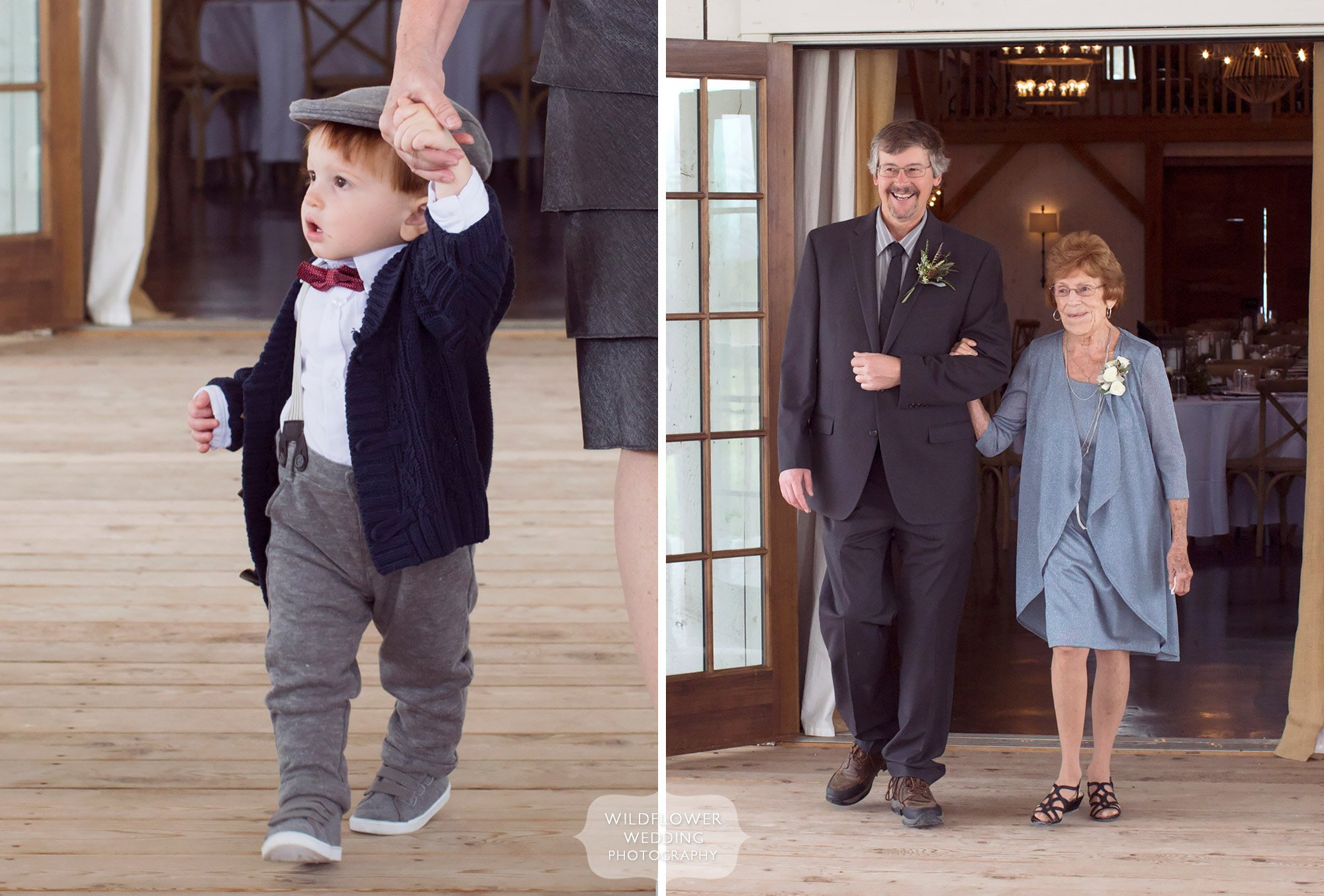 Newsboy toddler wedding outfit at Blue Bell Farm in mid-Missouri.