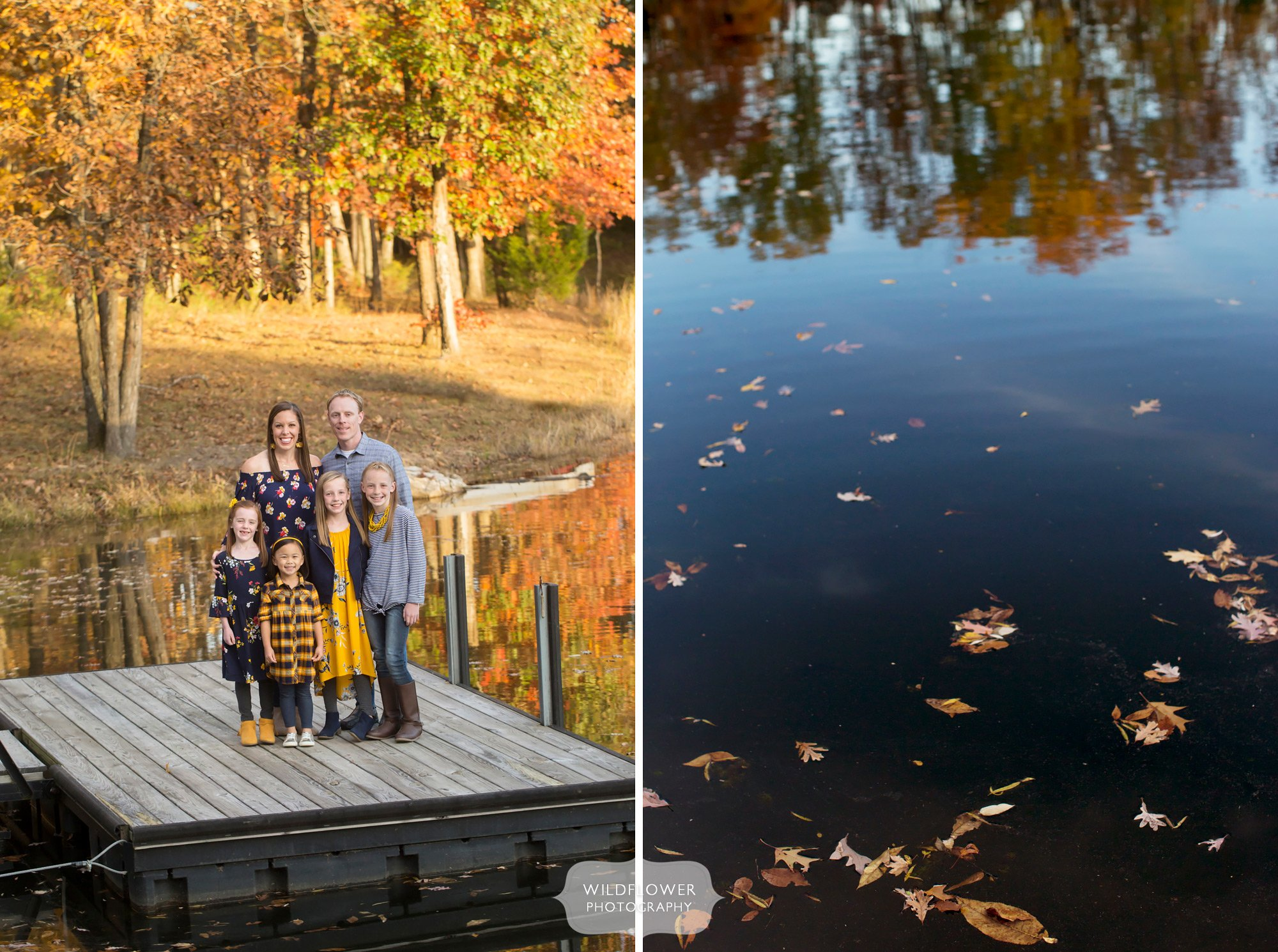 Beautiful fall foliage for family pictures outside in Columbia, MO.