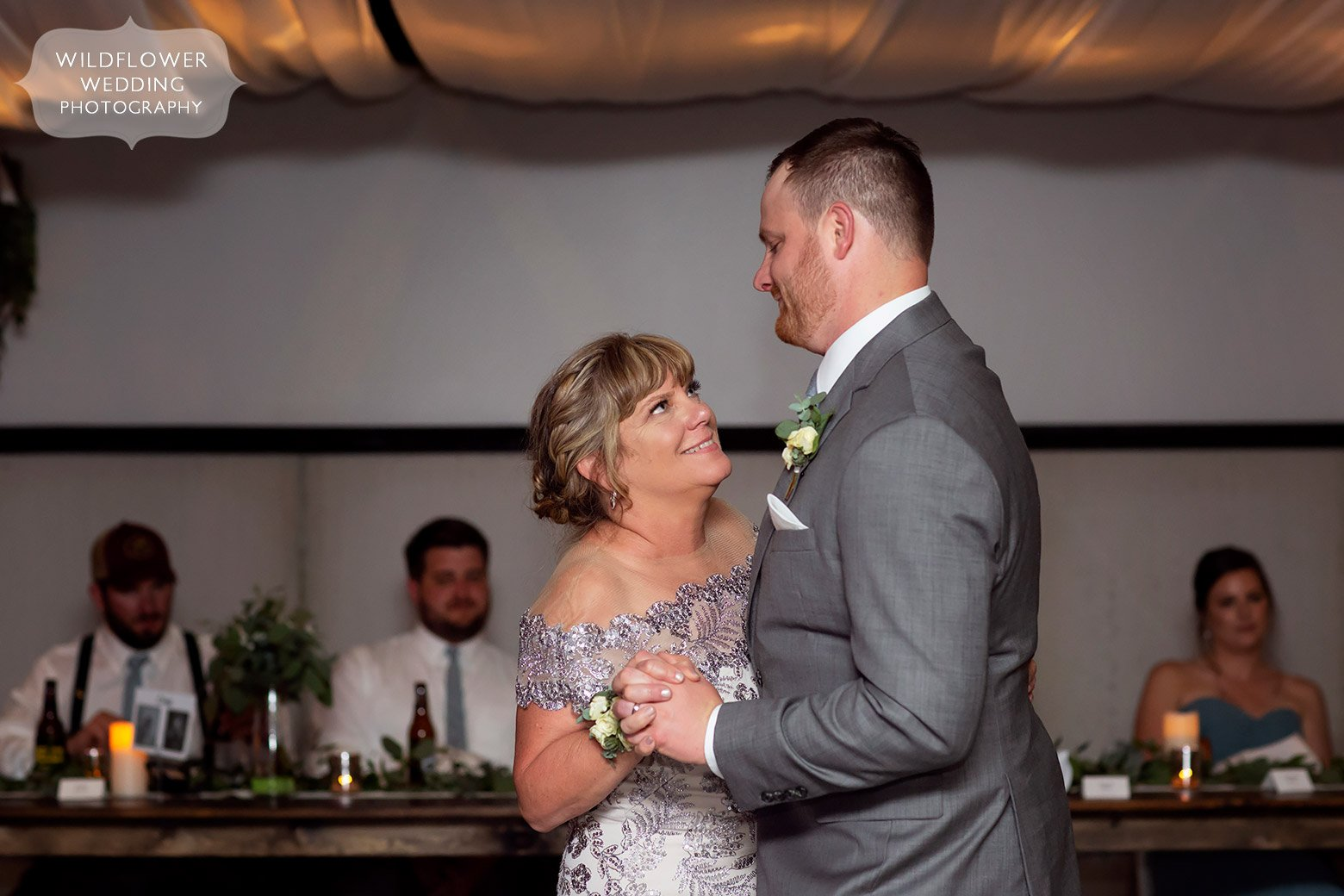 Groom dances with his mom at Cooper's.