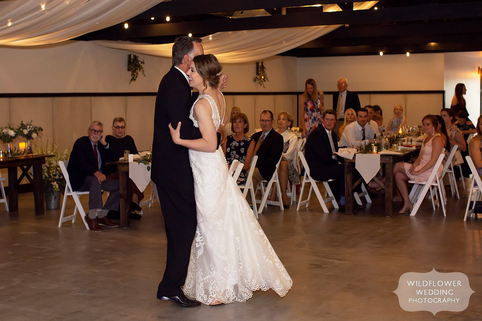 Bride dances with her father at Cooper's Ridge at May wedding.