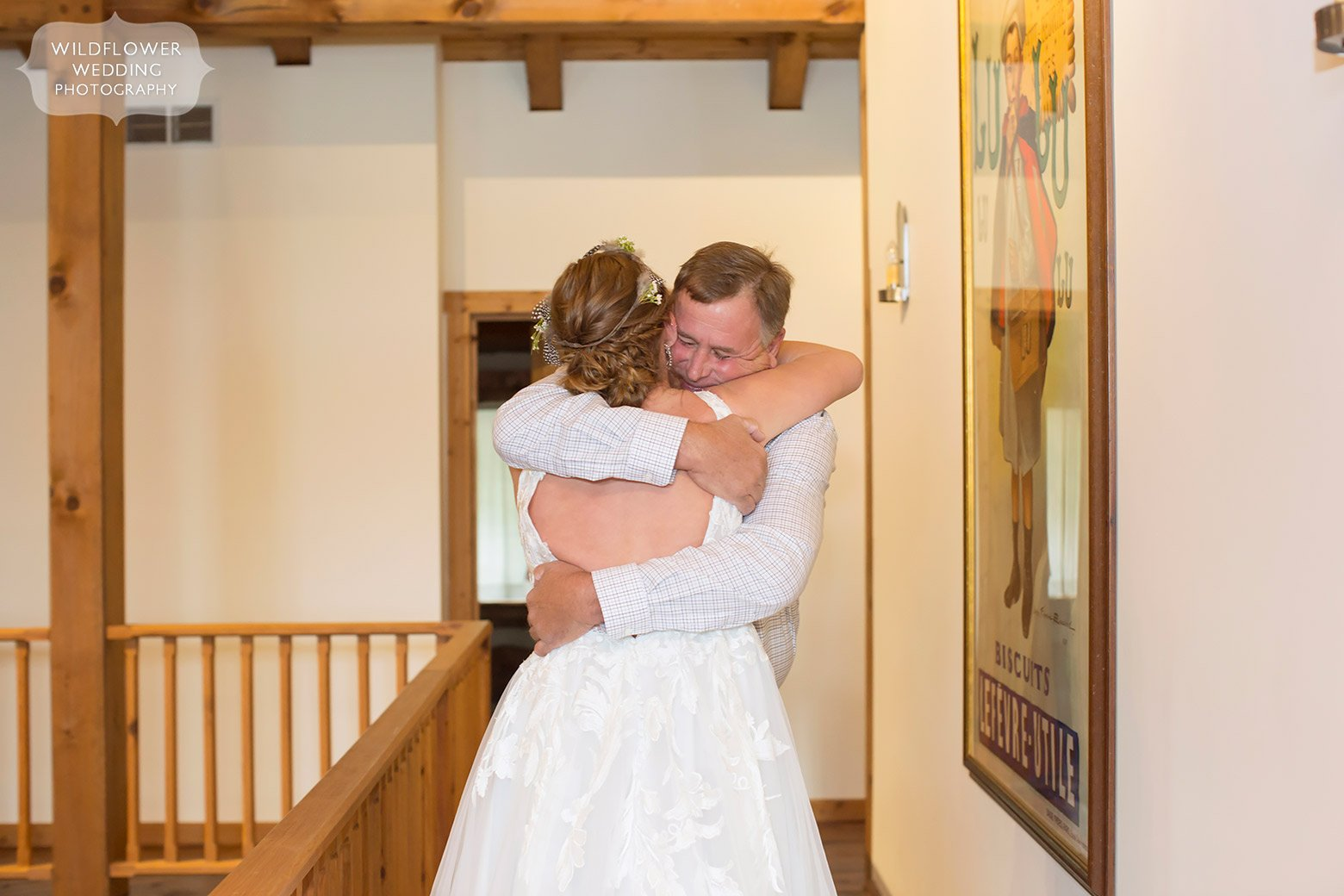 Bride sees father for first time in Hermann, MO.