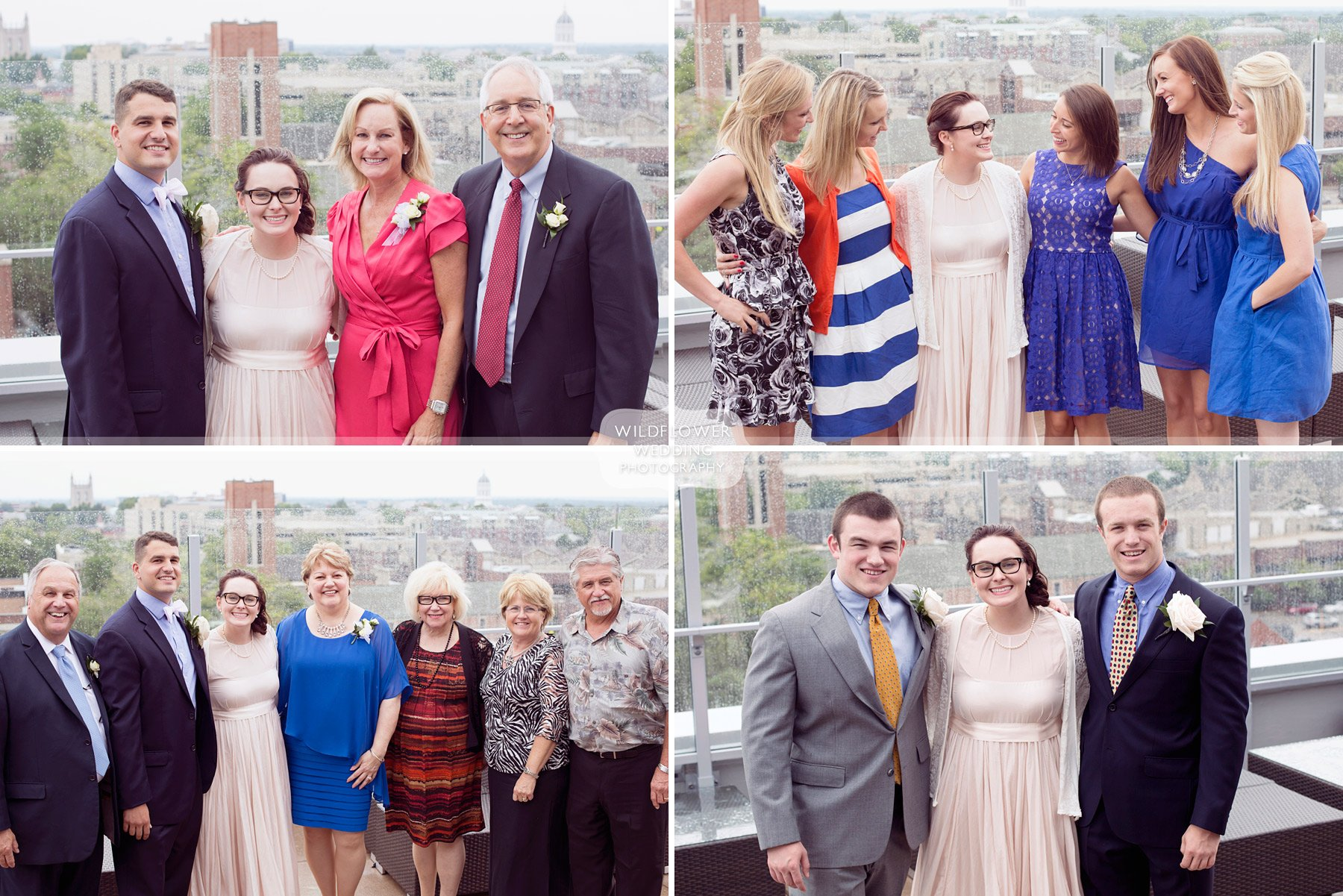 Outdoor Wedding Photography The Roof Columbia Mo