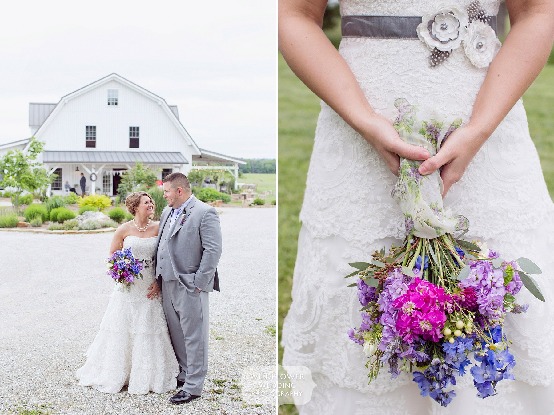 Rustic farm wedding in mid missouri near columbia fayette for Wedding dresses columbia mo