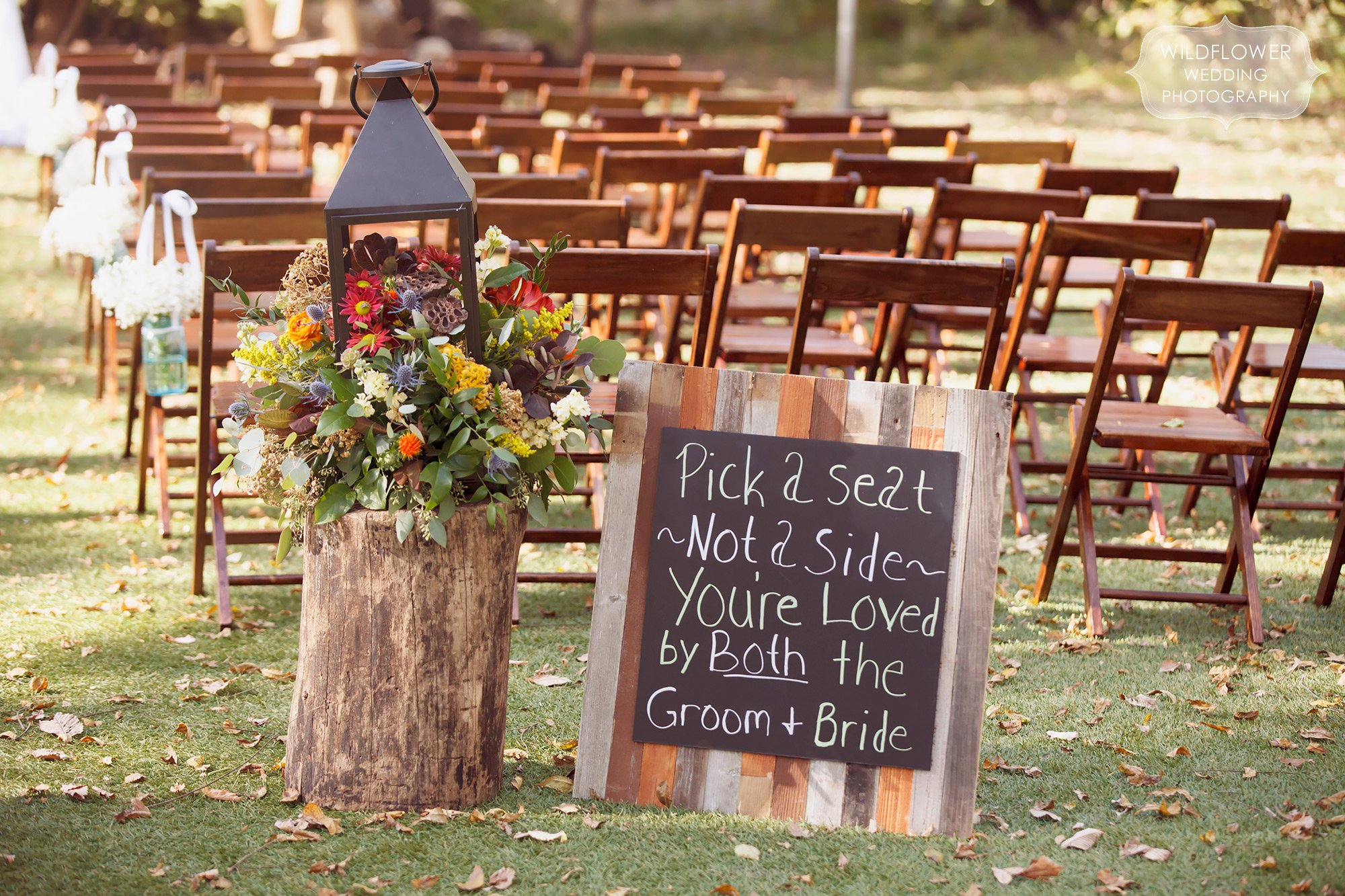Schwinn produce farm fall wedding in leavonworth ks in october october wedding wooden sign at the schwinn produce farm venue just north of kc mo junglespirit Images