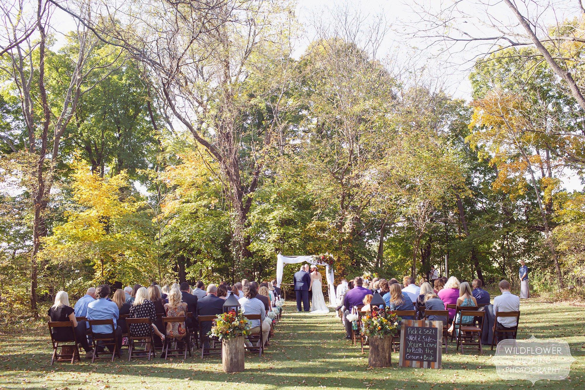 Schwinn Produce Farm Fall Wedding In Leavonworth, KS In