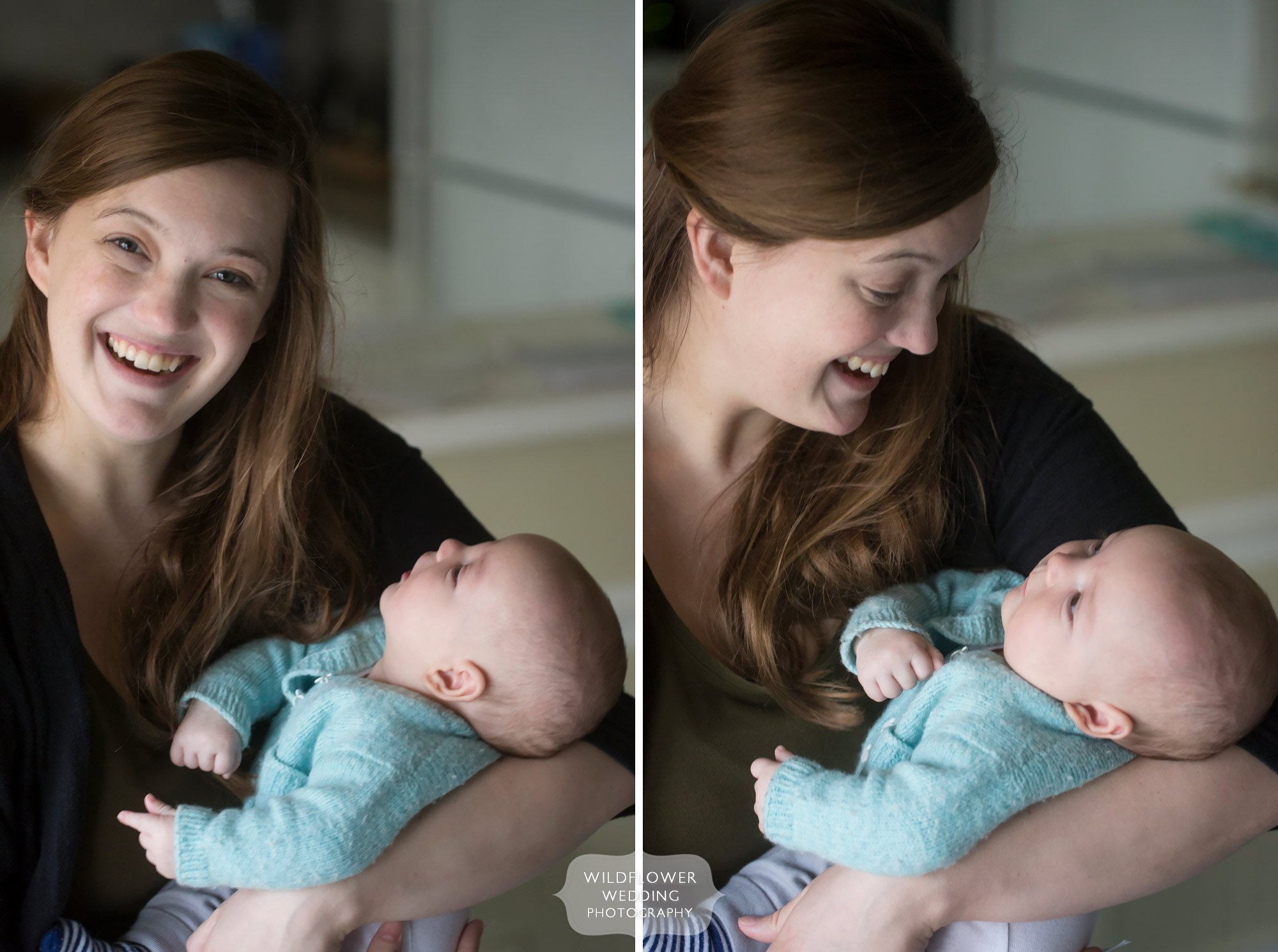 Natural baby photography at home with mama.