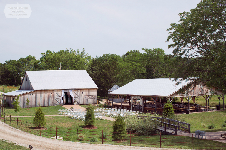 This country wedding venue at the Kempker's Back 40 barn in Westphalia is beautiful.