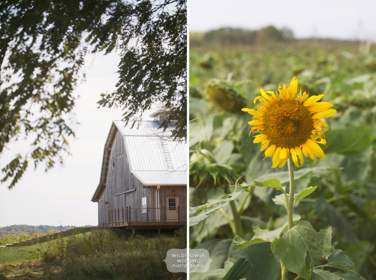 The Schwinn Produce Farm is a beautiful Kansas barn wedding venue in the country.