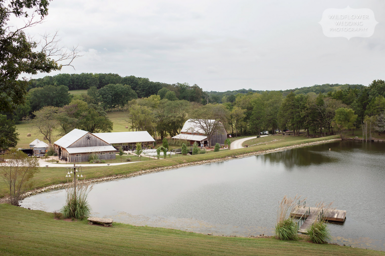 View of the Kempker's Back 40 wedding venue near Jefferson City, MO.