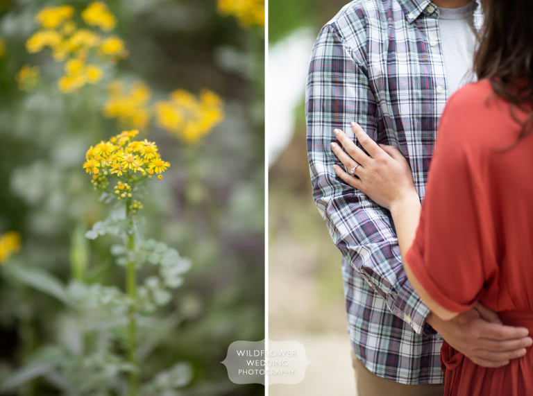 Spring engagement photography session on the Katy Trail in Columbia, MO.