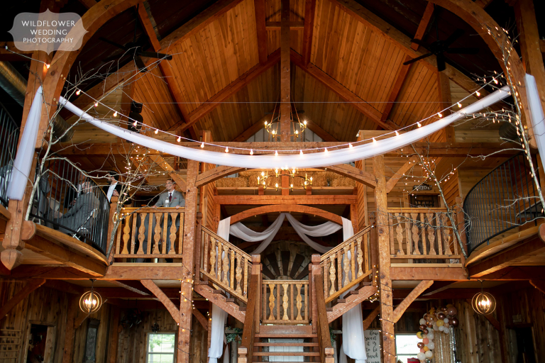 Indoor view of the rustic Weathered Wisdom Barn venue in the Ozarks, MO.